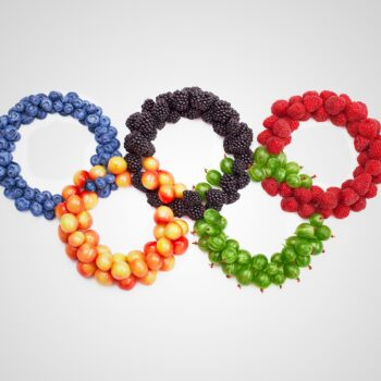 olympic rings with fruit japan